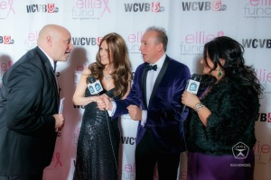 Scott and I being interviewed on the red carpet.
