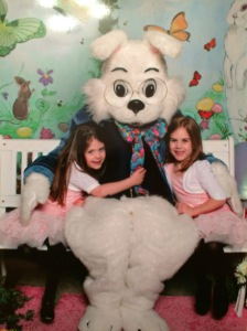 Successful picture with the Easter Bunny :)
