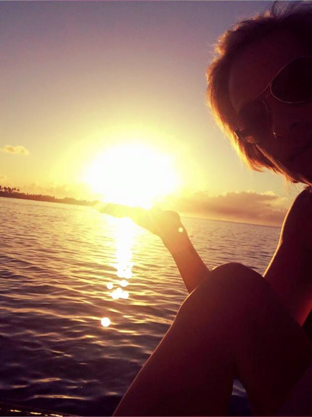The very last sunrise I will ever see on that side of the world... in the palm of my hand :)