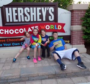 Kids, Hershey Park, May 2015