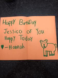 And then I turned 39.... Hannah was so sweet for leaving this for me, I couldn't get upset that she wrote